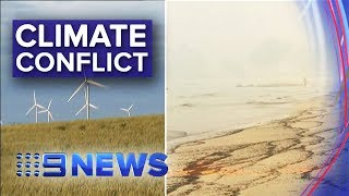 National political debate sparked over climate change response | Nine News Australia