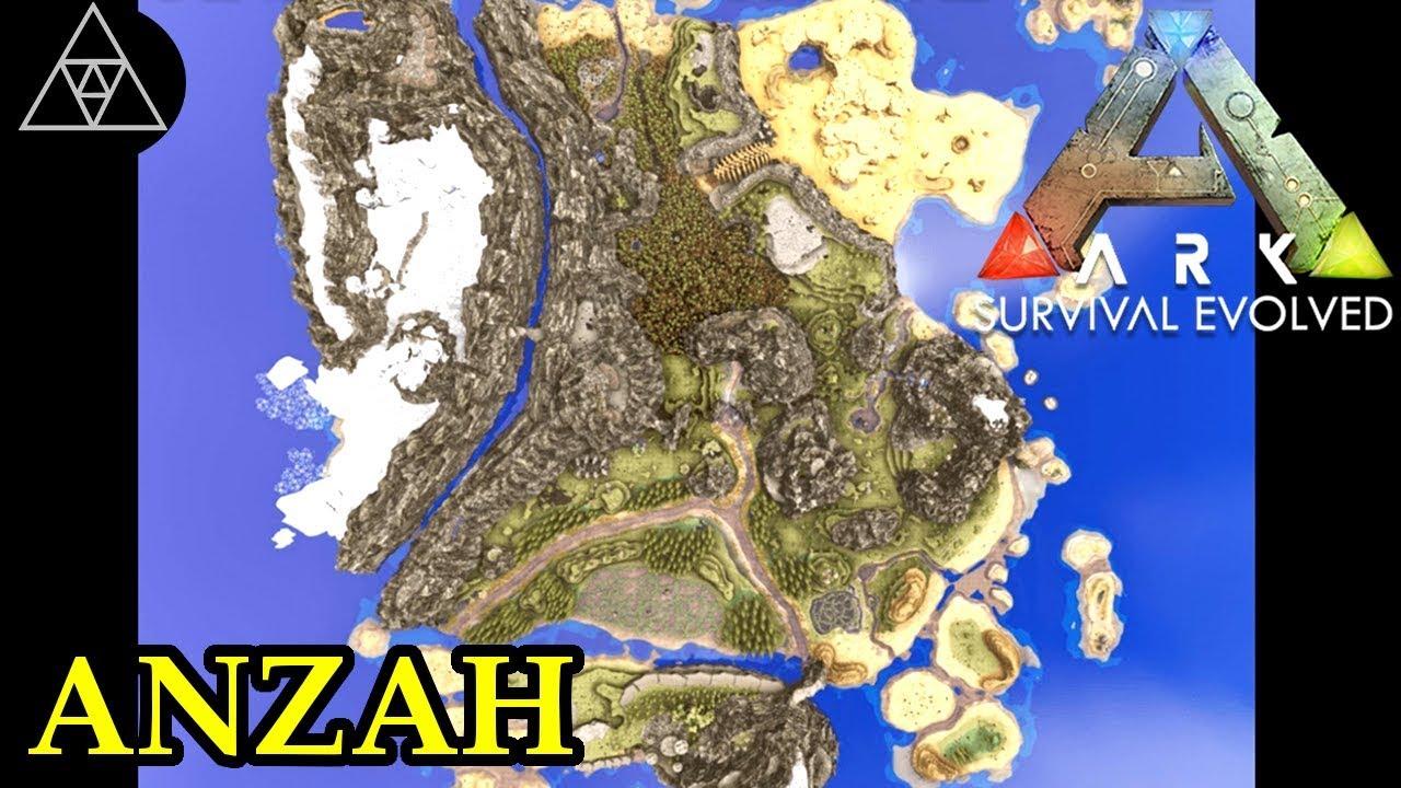 Ark Karte The Island.Ark Survival Evolved Karten 013 Anzah A Mythical Land Ark Map Spotlight