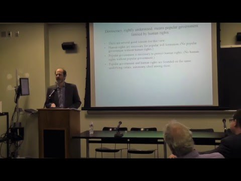 """Jamie Mayerfeld, """"Why Constitutional Government Requires International Human Rights Law"""""""