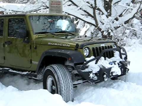 Jeep Unlimited Rubicon In 21 Quot Of Snow Youtube