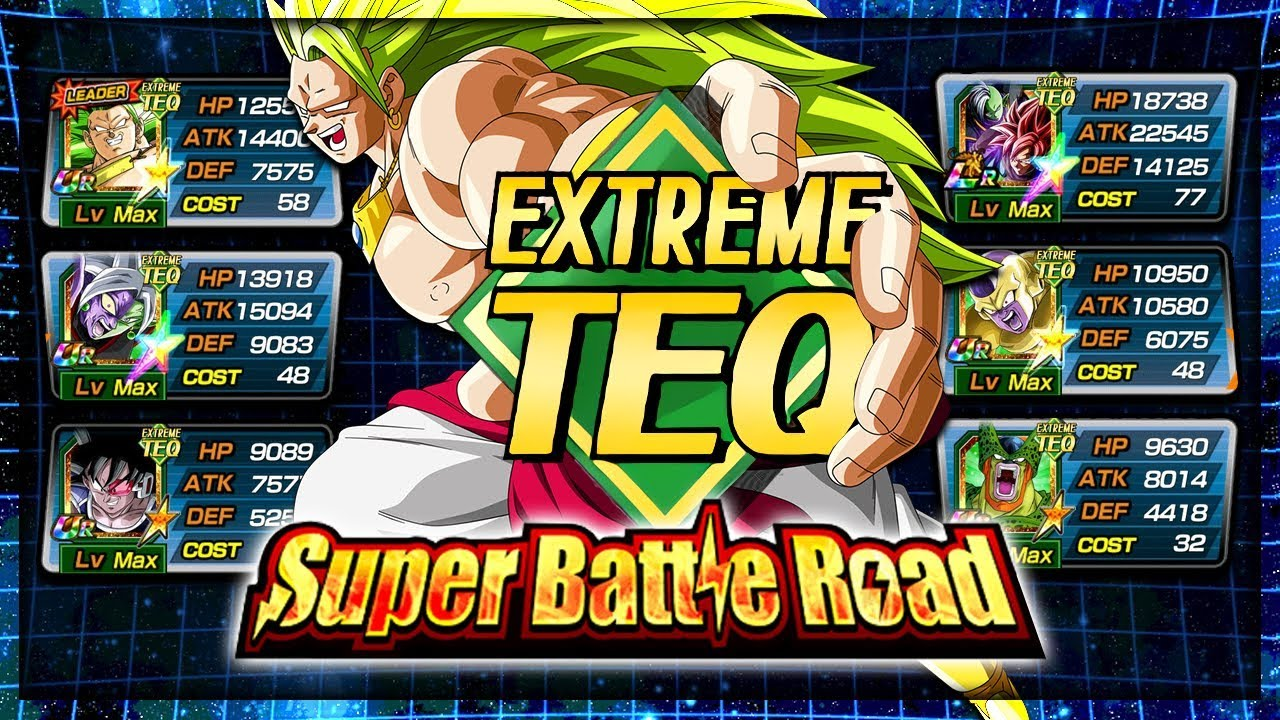 WORLDS FIRST EXTREME TEQ SUPER BATTLE ROAD WIN RECORDED!? | Dragon Ball Z  Dokkan Battle