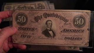 Money from the Civil War (Confederate Money Collection)
