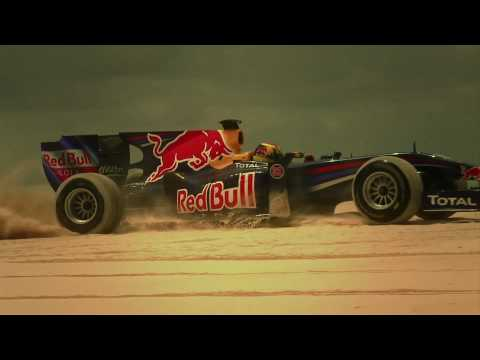 Red Bull F1 car drives on sand!