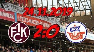 1. FC Kaiserslautern 2:0 F.C. Hansa Rostock - 24.11.2019 - DER FLUCH IST GEBROCHEN!
