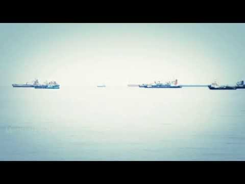 Sea Ships in Bay of Singapore Straight