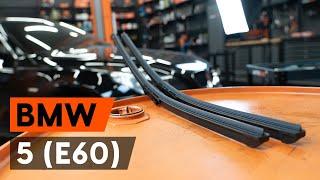 Montera Torkarblad bak och fram BMW 5 (E60): gratis video