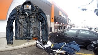 Transporting a Jacket on the Back of a Motorcycle