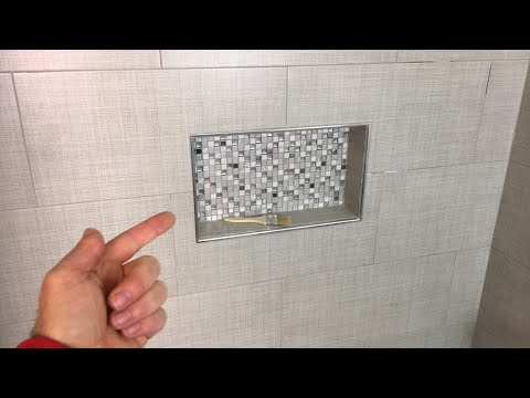 Tiling a Shower Niche Quick Tips (LIVE) - YouTube