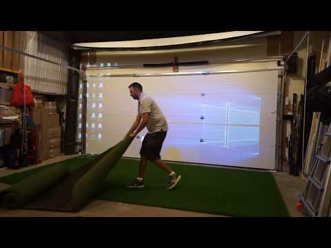 NEW! Stealth Premium Quick Setup Golf Simulator Studio - 5-Minute Setup