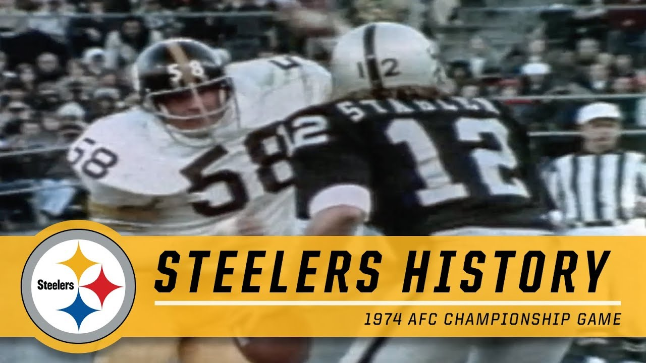 87aea8d995a 1974 AFC Championship Game | Pittsburgh Steelers vs. Oakland Raiders ...
