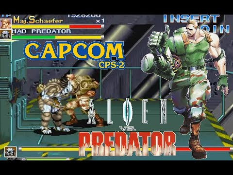 Alien Vs. Predator Arcade Lev8 Maj.Shaefer no death playthrough
