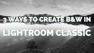 3 طرق لإنشاء BW في لايت الكلاسيكية