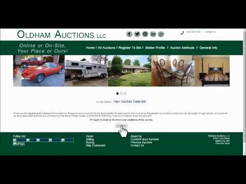 Oldham Auctions Online Auction & Website Tutorial