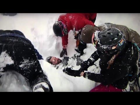 Video Captures California Avalanche Rescue