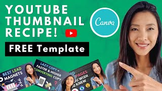 How To Make Youtube Thumbnails on CANVA // More CLICKS \u0026 VIEWS 🚀 YOUTUBE THUMBNAIL TEMPLATE FREE 😍