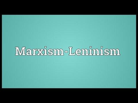 Marxism-Leninism Meaning