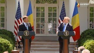 Donald Trump şi Klaus Iohannis, declaraţii comune la Casa Albă