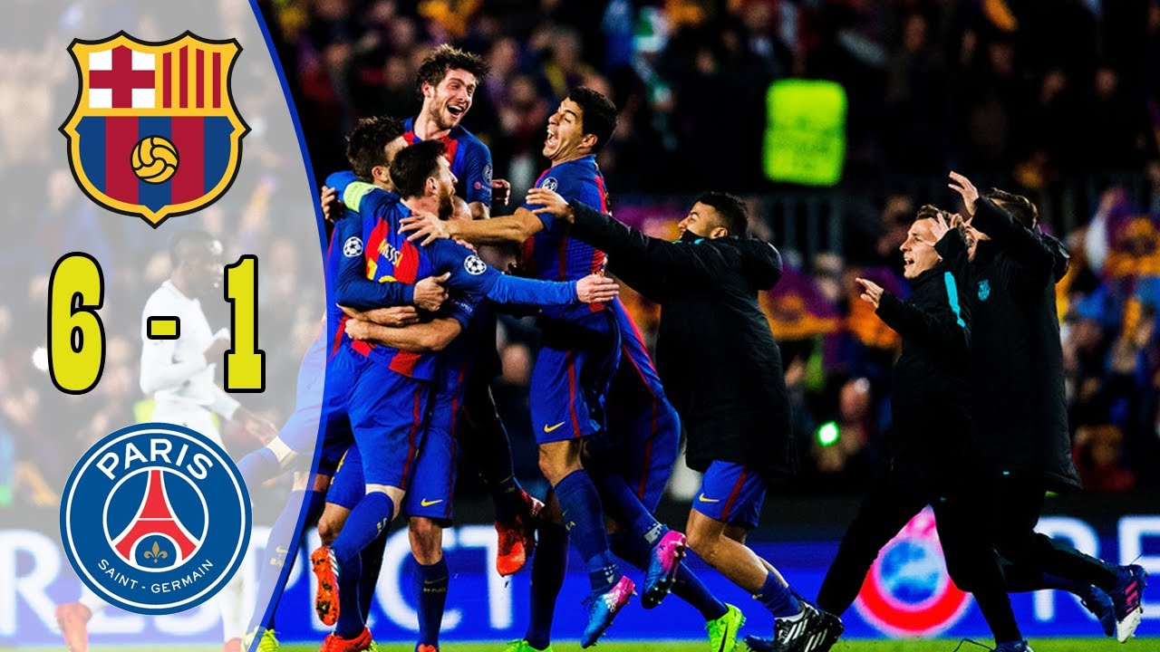 Download Bacelona Vs PSG 6-1 All Goals & Highlights 2017 (English Commentary) Full HD