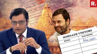 Rahul Gandhi Declares Himself 'Non-Hindu' | The Debate With Arnab Goswami