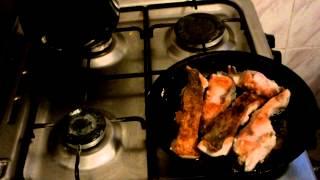 Как приготовить толстолобика карп под соусом  рецепт жаренная рыба