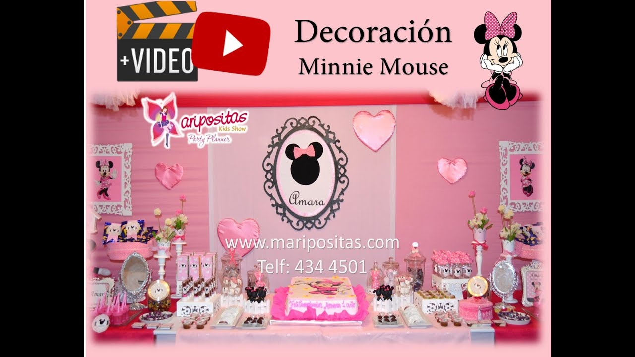 Decoración de Minnie Mouse