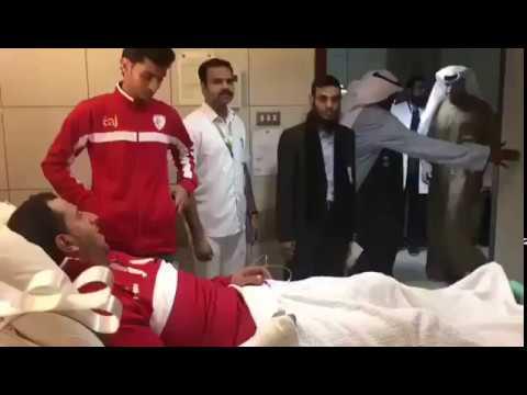 HH the Prime Minister Sheikh Jaber Al-Mubarak Al-Hamad Al-Sabah visits injured Omani nationals - Dauer: 40 Sekunden