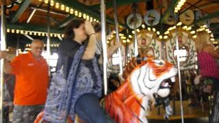 Randy Boyd rides the Kingsport Carousel