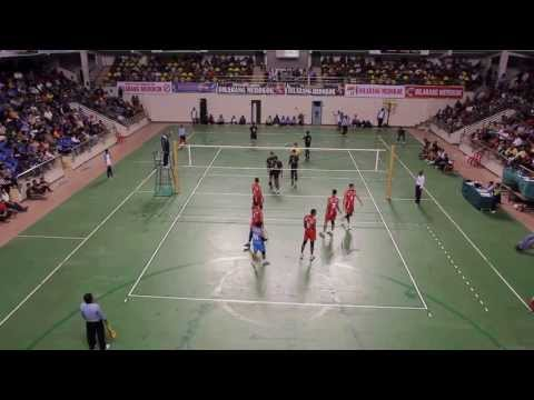 Haluan Kepri Volleyball Batam International Open 2013 - SUKMA Terengganu vs TNI AU (Quarter Final)