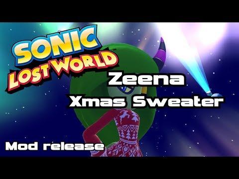 Sonic Lost World - Zeena Xmas Sweater Mod [RELEASE]  