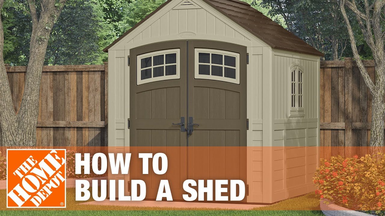 How To Build A Shed The Home Depot