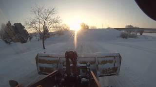 Volvo L70F Front End Loader Plowing Snow