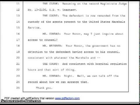 US v. DZHOKHAR TSARNAEV - PROCEEDINGS - US DISTRICT COURT DISTRICT OF MASSACHUSETTS