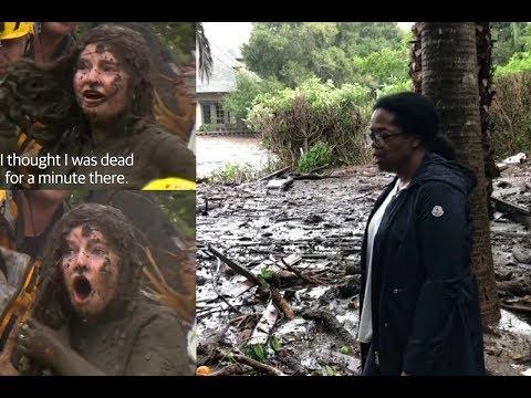 Prayers Up: Oprah Shares Videos Of The Mudslide In Her Backyard