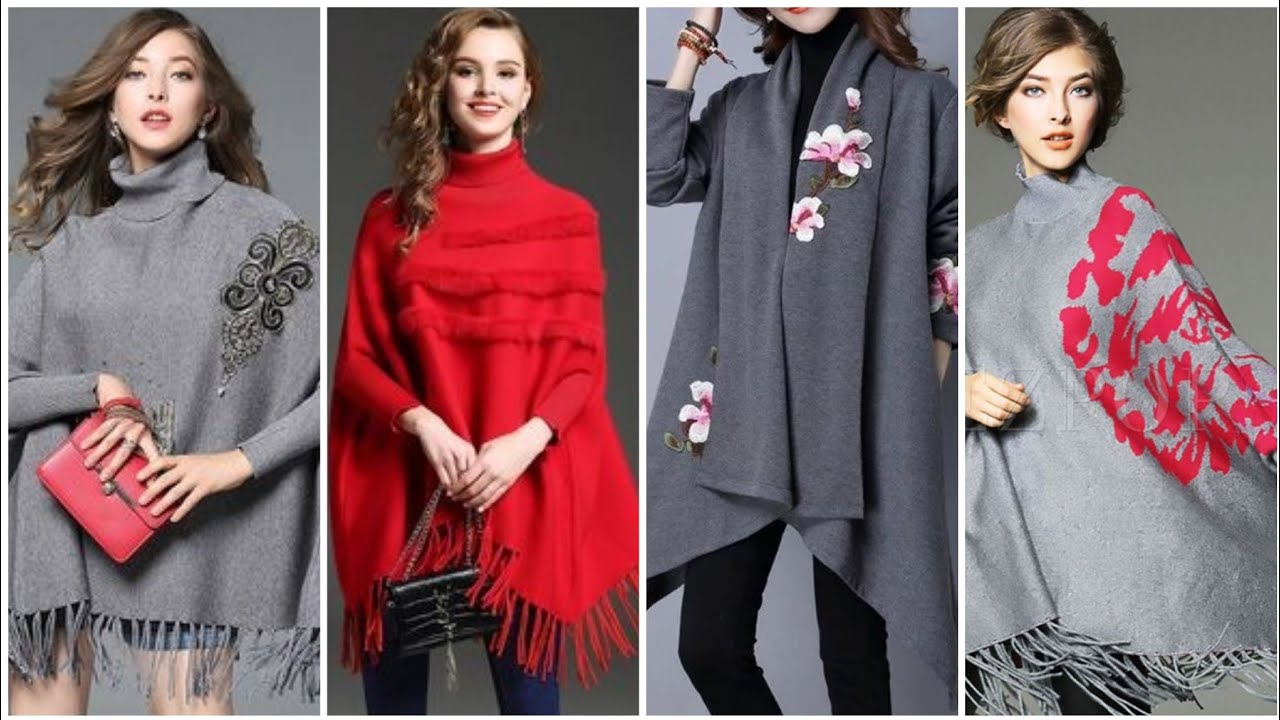 [VIDEO] - 31 Trending winter outfits oversized poncho outfit ideas // Latest Trending in fashion 8