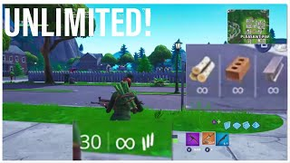 PLAYGROUND *UNLIMITED* MATS, AMMO, ITEMS AND WEAPONS IN FORTNITE!! V8.0 V8.01 XBOX/PS4/PC