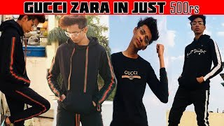MAKE GUCCI ZARA CLOTHES AT HOME DIY GUCCI TRACKSUIT ZARA TRACKSUIT DIY  GUCCI ZARA SIDE TAPE CLOTHES