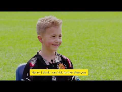 Exeter Chiefs players tackle the BIG questions in Aviva's mini interview!