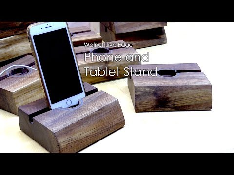 How to make Walnut Live Edge Phone and Tablet Stand | Beautiful Phone stand holder | 2
