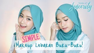 SIMPLE MAKEUP LEBARAN - WARDAH ONE BRAND TUTORIAL  | SARITIW