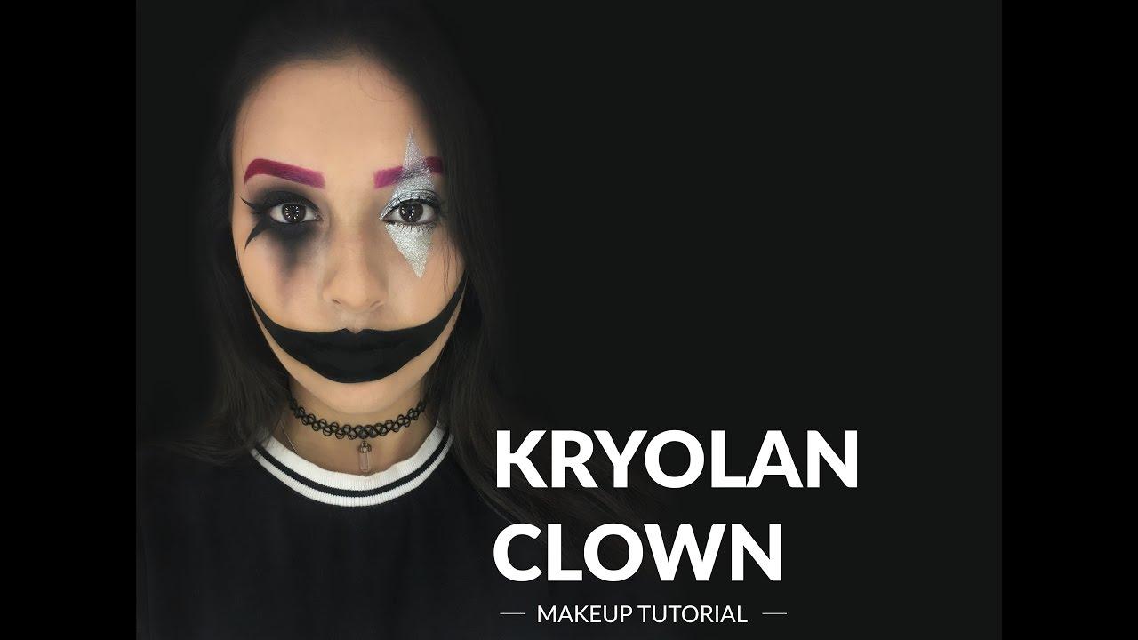 Kryolan Clown Makeup Tutorial - YouTube