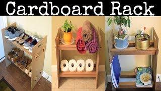 DIY: Cardboard Rack/Shelf | Shoe Rack| Bathroom Organizer Rack| Plants & Books Rack !!!