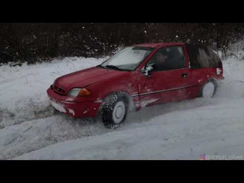 Subaru Justy 4x4 snow fun