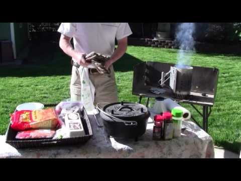 Dutch Oven Mountain Man Breakfast   Part 1   YouTube