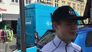 Niklas Larsen forud for første etape i PostNord Danmark Rundt 2019