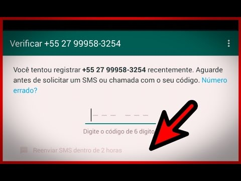 ✔COMO RESOLVER O PROBLEMA DO CÓDIGO DO WHATSAPP..VEJA O VÍDEO✔