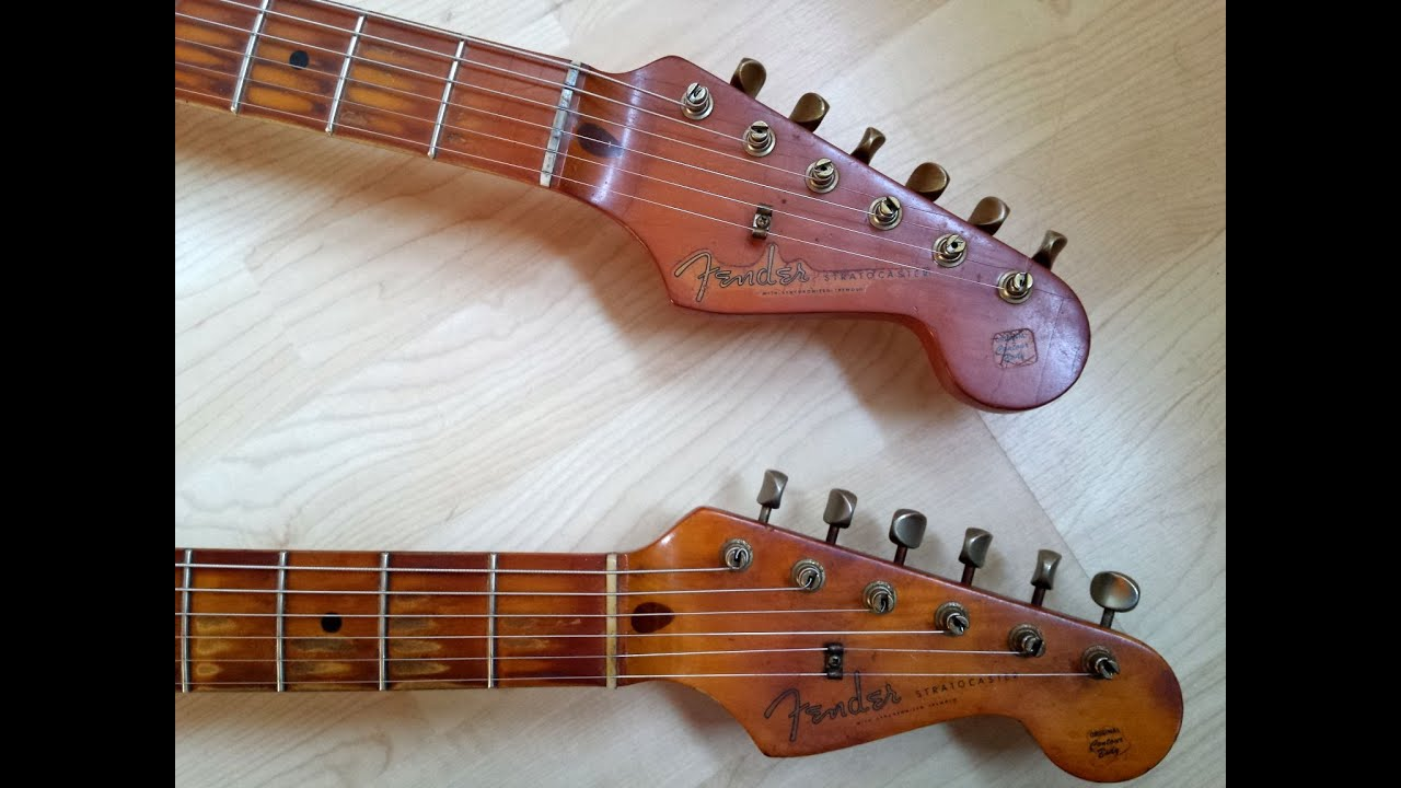 1  Comparison 1982 And 1983 Fender Stratocaster 1957 Ri