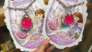 小さなプリンセス ソフィア アバローのペンダント ピンク Disney Princess Sofia Pendant