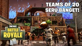 TEAMS OF 20 SERU BANGET! - Fortnite: Battle Royale (Indonesia)