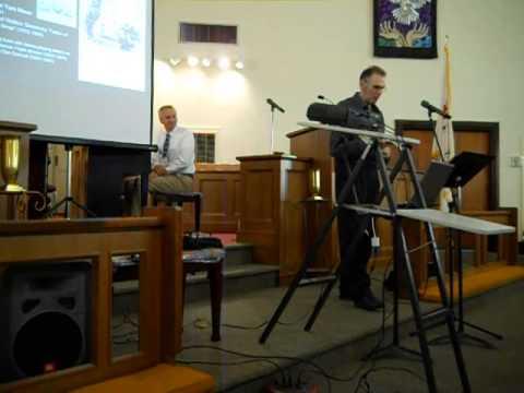 "Scott Miller (bones) & Rich Egan (piano): ""Old Tar River,"" 2014 Scott Joplin Festival"