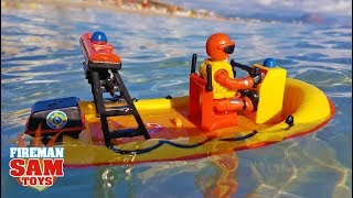 Fireman Sam Toys 🛥️ RESCUE MISSION for NEPTUNE | Norman drives out to the Ocean | Video for Kids